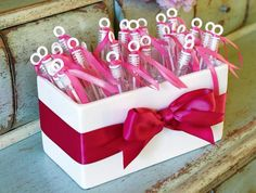 Make your wedding day send-off extra special. Adorn bubble wands with decorative ribbon to match your personal theme. Bubble wands are a nice alternative to birdseed and rice.