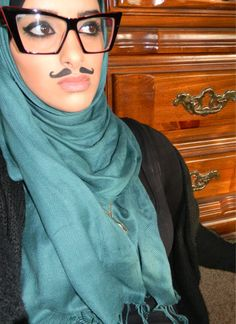 She coo. #hijab #mustache
