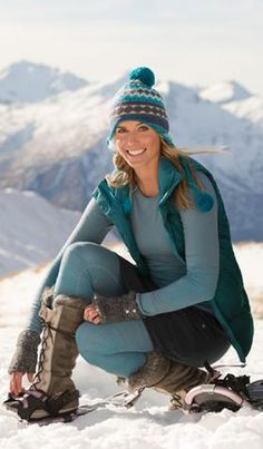 Shop by Sport: Winter Training Outfit Ideas | Athleta  And my favorite color.  Love the boots!