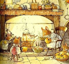 Brambly Hedge - series of books about a charming community of mice in England.  Great for kids.