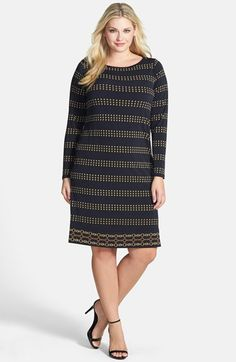 573c8cfaddefa MICHAEL Michael Kors Border Print Boat Neck Dress (Plus Size) available at   Nordstrom