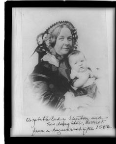 Elizabeth Cady Stanton and her daughter, Harriot--from a daguerreotype 1856 | Library of Congress