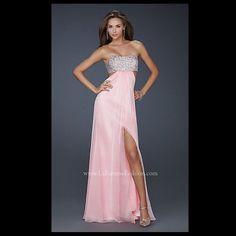 La Femme Pink Dress