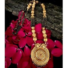 1 Gram Mangalsutra 1 Gram Gold Jewellery, Temple Jewellery, Gold Jewelry, Jewelry Accessories, Jewelry Sites, Necklace Set, Bangles, Pendants, Engagement