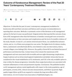 http://journals.lww.com/claojournal/Abstract/publishahead/Outcome_of_Keratoconus_Management___Review_of_the.99464.aspx