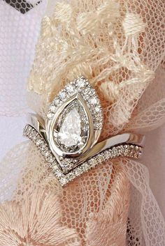 39ff04d93 1 carat pear diamond unique engagement rings set white gold Silly Shiny  Diamonds Atyasha pear diamond