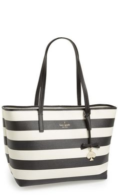 Striped tote from kate spade new york http://rstyle.me/n/pxscen2bn durupaper.com #kate_spade