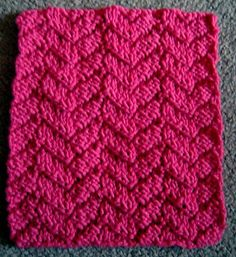 This a reversible stitch pattern using knits and purls to give a cabled look. I did not design the pattern, but it was used by my grandmother and aunts, and I wanted to preserve it for others to use.