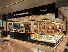 """In March 2017, patisserie brand """"HENRI CHARPENTIER"""" opened their overseas flagship shop in Tanjong Pagar Centre, Singapore. Based on the store concept """"The Patisserie Whole"""", customers can experience the whole HENRI CHARPENTIER in this complex shop. The store consists of """"Salon de thé"""", """"Patisserie"""", """"Gift"""", """"self‐service café"""", """"Eating area"""" and """"Sandwich-selling"""". The store's design concept is """"Black Is New Black"""" that is newly developed to satisfy diverse demands and site characteristics."""