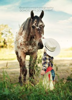 Gorgeous horse + Cute little boy = Awesome picture