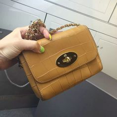 49839d3ff5d 2016 Spring Summer Mulberry Mini Lily Crossbody Bag in Camel Croc Letaher