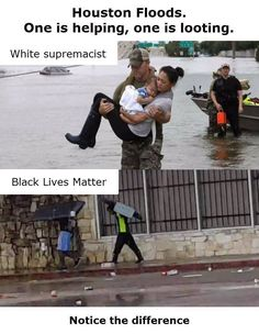 Why do posts have to show racism? Help comes in all sizes and color just as looters do. We need to Pray for those that went through those terrible hurricanes as well as that major Earthquake that hit Mexico.Can we put the hate on the back burner at least for now?