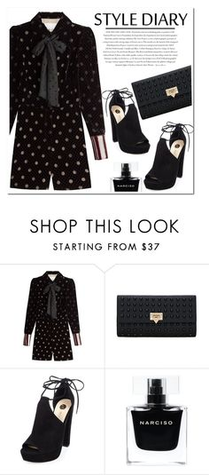 """""""Untitled #1129"""" by samha ❤ liked on Polyvore featuring Maison Margiela, River Island, Envi and Narciso Rodriguez"""