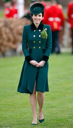 Kate's St Patrick's Day look, including a bespoke coat by Catherine Walker, set her back more than £2,500
