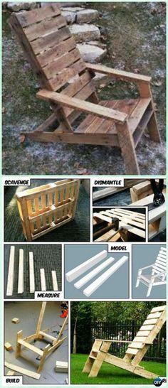 DIY One Pallet Adirondack Chair Free Plan and Tutorial