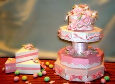 wedding shower favors -wedding cake