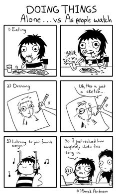Today on Sarah's Scribbles - Comics by Sarah Andersen Sarah Anderson Comics, Sara Anderson, Sarah's Scribbles, 4 Panel Life, Funny Quotes, Funny Memes, Hilarious, Mini Comic, Me Anime