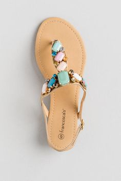 Quinney Jeweled Flat Sandal -
