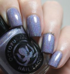 Octopus Party Nail Lacquer - Crepuscular (in usa beth) Holo Nail Polish, Holographic Nail Polish, Party Nails, How To Do Nails, Octopus, Diy Tutorial, Bath And Body, Swatch, Finger