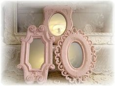 vintage pink shabby chic things   Vintage Shabby Chic Wall Mirrors   Pink , Rosado!!!