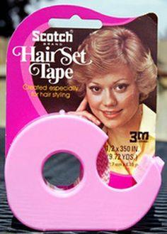 Scotch Hair Tape Dispenser on Display Card, Pink, Donna Pescow, Disco 1970s Hairstyles, Vintage Hairstyles, Tapas, Vintage Hair Salons, Hairstylist Quotes, Hair Tape, Sweet Memories, Childhood Memories, Makeup Salon