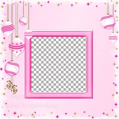 """Layout QP 1C-1 Pink.....Quick Page, Digital Scrapbooking, Christmas Time Collection, 12"""" x 12"""", 300 dpi, PNG File Format"""