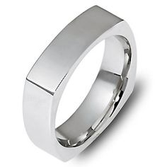 Classic 6.0mm wide comfort fit wedding band featuring squared edges   Plain & Fancy Wedding Bands