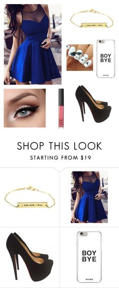 """Prom"" by panda-stilinski-lol-24 ❤ liked on Polyvore featuring Christian Louboutin and NARS Cosmetics"