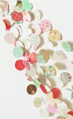 the New Vintage Love 30' Wedding Paper Garland