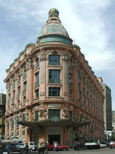 Ex-Orosdi-Back Department Store known later under the name Omar Effendi. The building was designed in 1909 by the French architect Raoul Brandon. Address: 41, Rushdi st. Downtown Cairo.