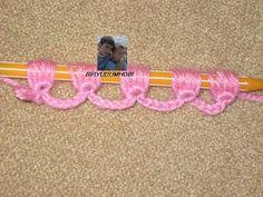 Artesanato Fofo: Ponto de crochê feito com ajuda da caneta