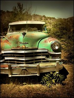 #rustic #car #green