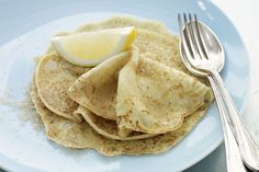 Create a memorable breakfast with these light, lemony pancakes.