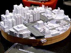3D printed city.