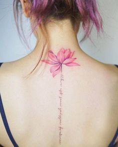Lotus flower with the same color as hair color #flower_tattoo_loto