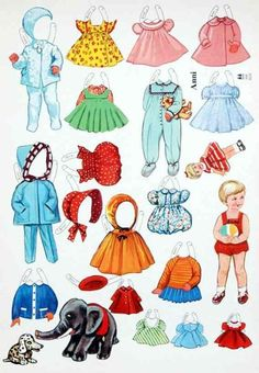 GIRL BOY * 1500 free paper dolls from artist Arielle Gabriel The International Paper Doll Society for Pinterest paper doll pals *