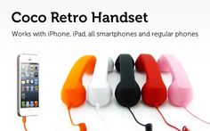 Get A Trendy Handset that Will Work With Your Smartphone and Tablet - A Retro Phone For Your Smart Device (62% off)