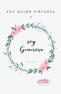 La mujer virtuosa es GENEROSA- proverbios 31:20 Virtuous Woman, Godly Woman, Devotional Quotes, Bible Verses Quotes, Christian Inspiration, Life Inspiration, Christian Women Quotes, Inspirational Wall Decals, Book Works