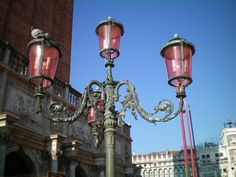 The street lights of Venice.