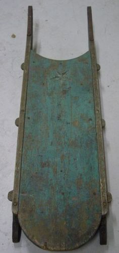 Early painted sled <3 maybe a good color for bed room furniture