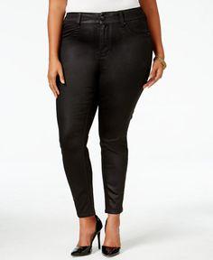88769e80c89 Melissa McCarthy Seven7 Trendy Plus Size Coated Colored Wash Jeans Plus  Sizes - Jeans - Macy s