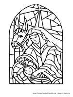 Free Nativity Coloring Pages (Christian preschool printables)