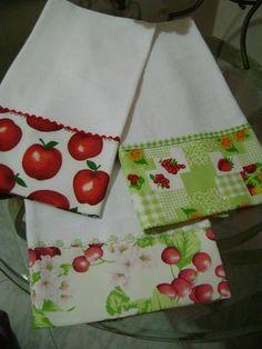 Tecido de sacaria, barrados com tecido 100% algodao com sianinhas Este valor se refere a cada pano de prato