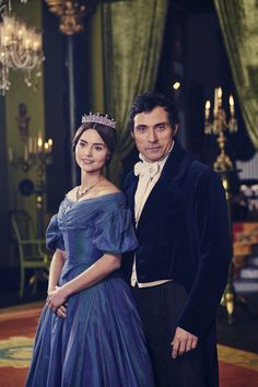 Rufus Sewell and Jenna Coleman as Lord Melbourne and Victoria