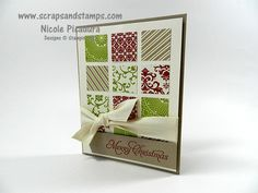 Stampin' Up! Demonstrator - Nicole Picadura - Scraps & Stamps: 2012 Christmas Series #4 - Simple Square Merry Christmas Card