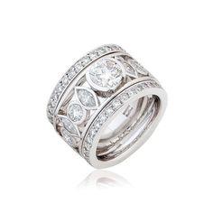 Iconic Round & Marquise Diamond Dress Ring   Bill Hicks Jewellery Design
