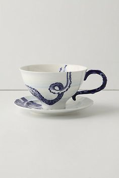 From The Deep Cup & Saucer #anthropologie