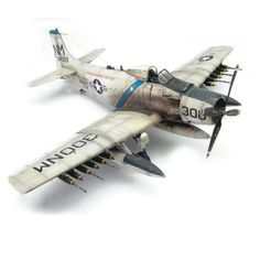 Tamiya scale model Skyraider by Vince Pedulla. Aircraft Photos, Ww2 Aircraft, Military Jets, Military Aircraft, Scale Models, Aircraft Propeller, Modeling Techniques, Model Hobbies, Military Modelling