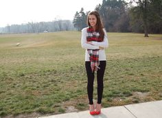 thermal shirt, red pumps, ivanka trump pumps, leggings, christmas outfit