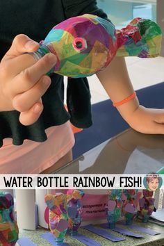 Water bottle rainbow fish - a great activity for your students to do for Earth Day. Water bottle rainbow fish are easy, fun and inexpensive.